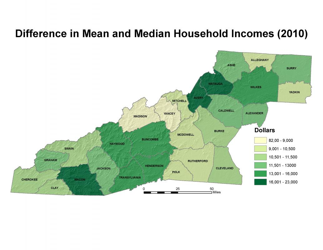 Income Western North Carolina Vitality Index - Us counties by average income