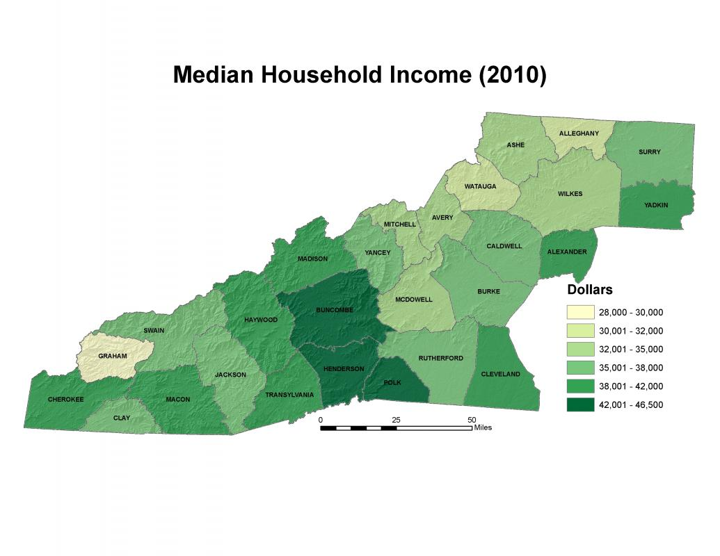 Income Western North Carolina Vitality Index - Us census income map
