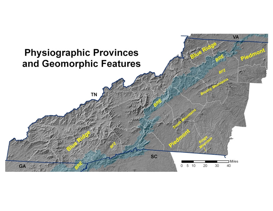 Mountain Topography And Geomorphology Western North Carolina