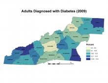 Adults Diagnosed with Diabetes (2009) Map