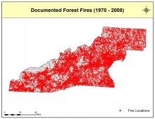 Documented Forest Fires Map