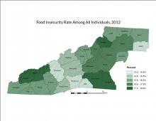 Food Insecurity Rate Map