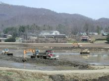 Sediment Removal at Lake Junaluska.