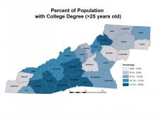 Percentage of Population with College Degree