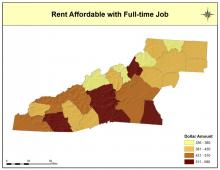 Rent Affordable with Full-Time Job Map