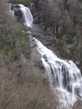 Whitewater Falls on the Blue Ridge Escarpment in Transylvania County.